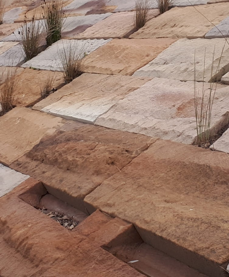 Alexandra canal sandstone large format split