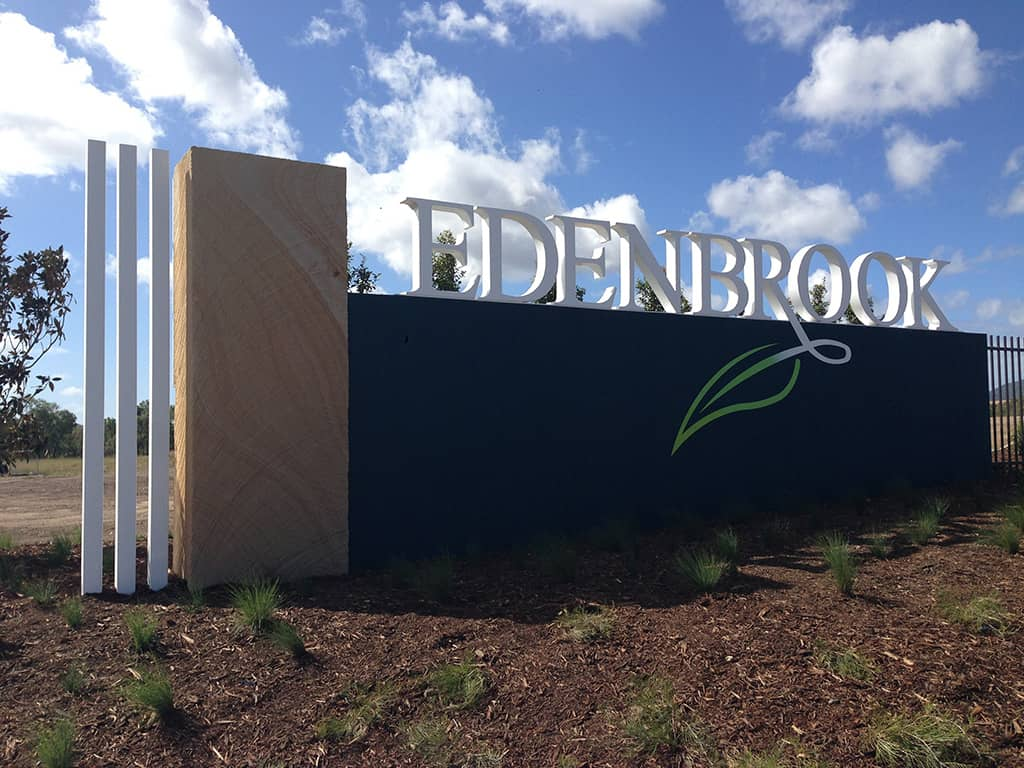 Edenbrook Sandstone Sign