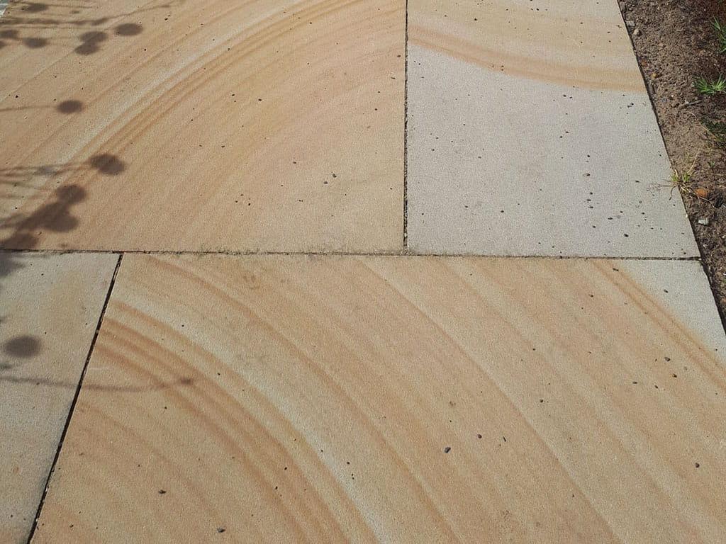 sandstone paved footpath