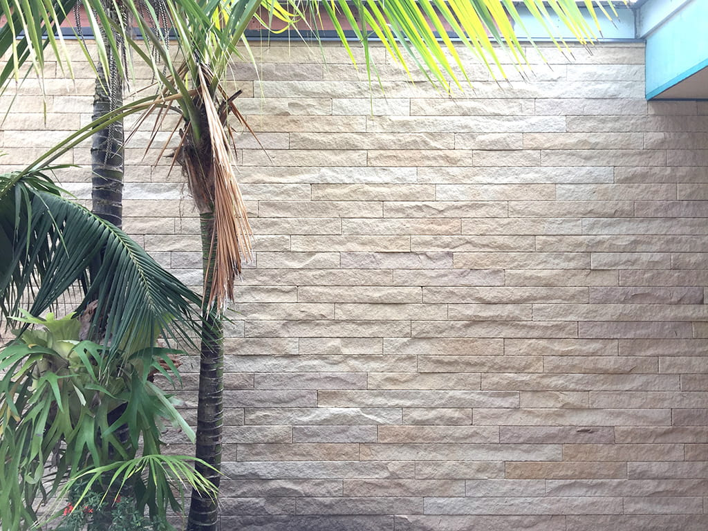 sandstone linear split walling