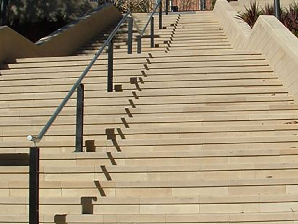 sandstone set of stairs