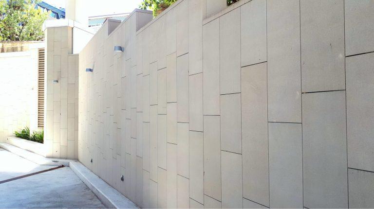 st basils sandstone sawn walling
