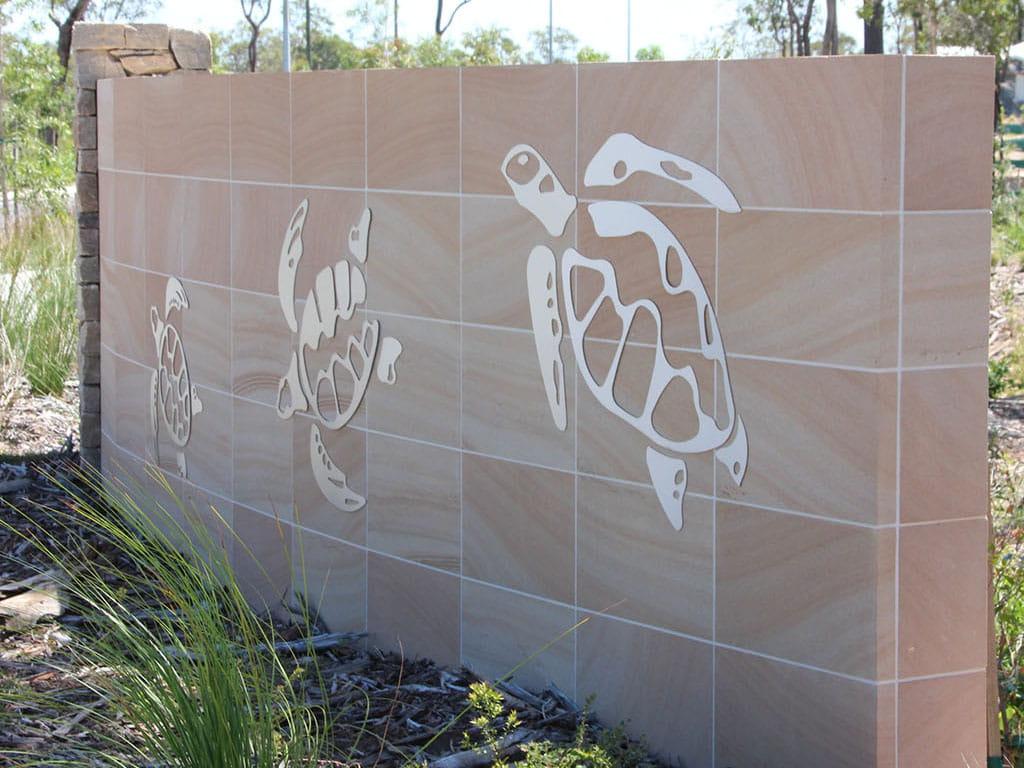 tannum blue sandstone sawn wall